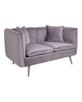 Canapé Antibes en velours gris 138x76xH76 cm