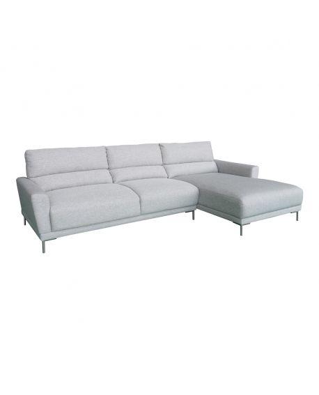 Canapé Ascoli gris clair - angle à droite 277x165 / 99xH86 cm
