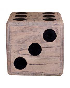 Tabouret Cubo en bois naturel de Mindi