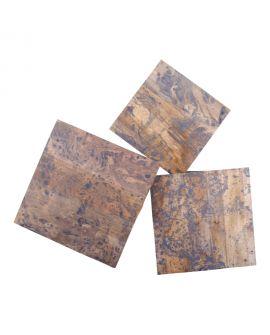Table d'appoint Ranchi en bois de manguier, finition marbre gris
