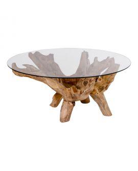 Table Basse Amazonas ronde avec verre