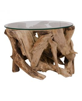 Table Basse Grand Canyon avec plaque de verre