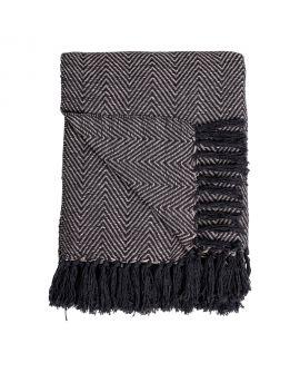 Couverture Cort en coton noir et blanc