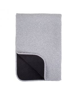 Couverture Ribe noire et grise avec bordure grise