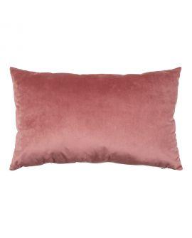 Coussin Chaves bicolore en velours gris / rose 40x60cm