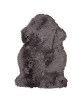 Peau d'agneau marron 50x85 cm