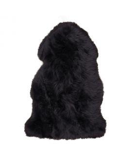 Peau d'agneau noir 50x85 cm