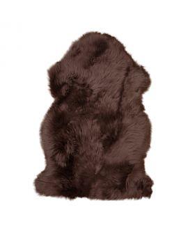 Peau d'agneau brun 50x85 cm