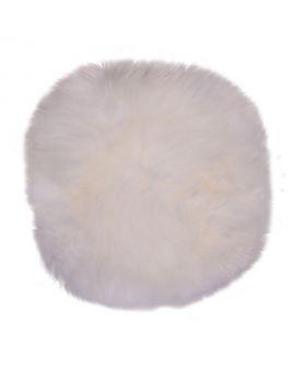 Siège en peau d'agneau - Assise en cuir d'agneau ivoire 35Ø