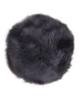 Siège en peau d'agneau - Assise en cuir d'agneau gris 35 cm