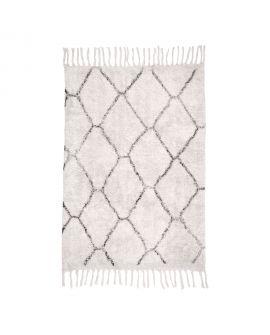 Tapis en coton naturel avec impression 90x60 cm