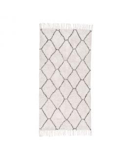 Tapis en coton naturel avec impression 135 x 65 cm