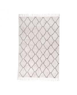 Tapis en coton naturel avec impression 180 x 120 cm