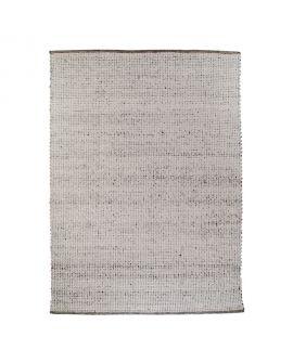 Tapis Kansas - Tapis tissé à la main en armure plate grise 200x300 cm