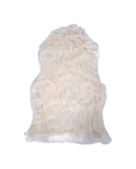 Peau d'agneau artificiel ivoire 50x85 cm