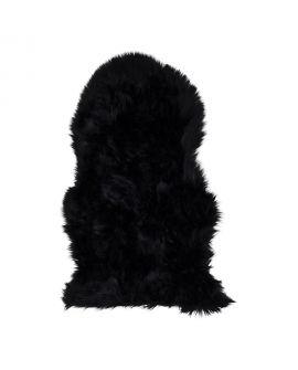 Peau d'agneau artificiel noir 50x85 cm