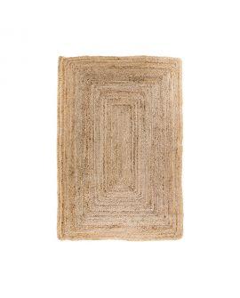 Tapis Bombay - Tapis en jute naturel tressé 90x60 cm