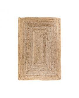 Tapis Bombay - Tapis en jute naturel tressé 135 x 65 cm