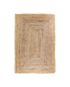 Tapis Bombay - Tapis en jute naturel tressé 180 x 120 cm