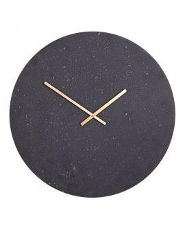 Horloge Murale Paris aspect pierre grise et noire 50 mm