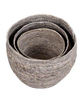 Paniers Tivoli - 3 paniers ronds gris