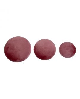 Boutons Giza - 3 boutons en velours rose et aspect laiton