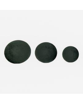 Boutons Giza - 3 boutons en velours vert foncé et aspect laiton