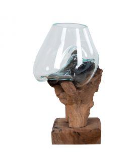 Goutte d'eau Saint- Marin avec verre h25 cm