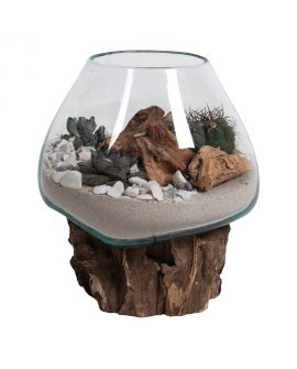 Goutte d'eau Saint- Marin avec verre 15- 20 cm