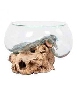 Goutte d'eau Saint- Marin avec verre 26xh20 cm