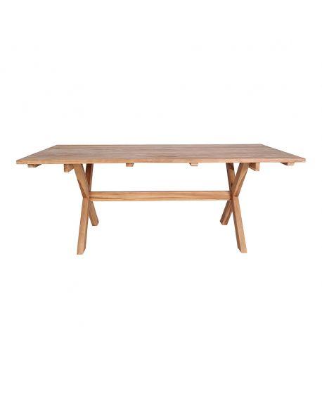 Table de salle à manger Murcia en teck recyclé 200x90xh75cm