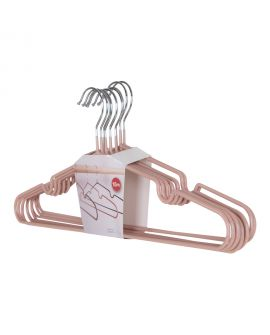 Cintres Massa en métal avec revêtement rose