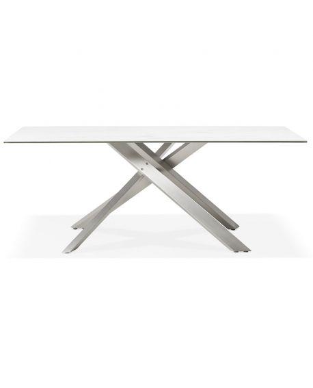 Table à diner design VIEDMA BLANC