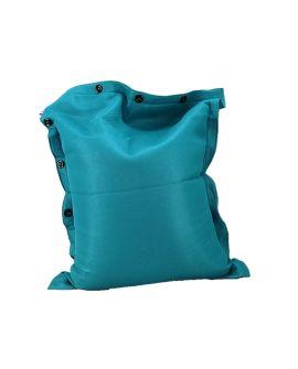 POUF 100 X 130 BLUE TILE MESH