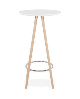 Table bar design DEBOO BLANC