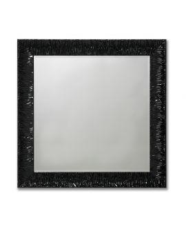 Miroir encadré Antwerp Black Square Carré Noir poli 99 X 99
