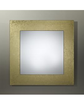 Miroir encadré Basic Bronze Square Carré Or + bronze 94 X 91