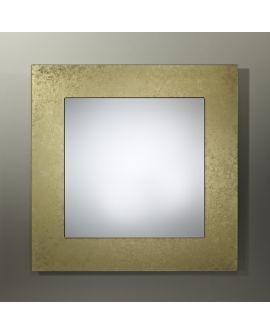Miroir encadré Basic Bronze Square Carré Or + bronze 94 X 91
