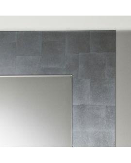 Miroir encadré Basic Silver Square Carré Couleur argent 98 X 100
