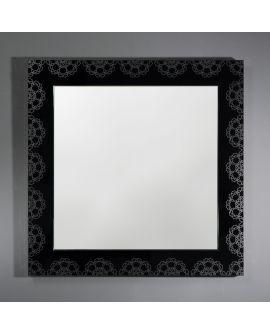 Miroir encadré Bruges Carré Miroir + noir 95 X 95