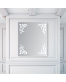 Miroir encadré Athena Rectangle 111 X 126