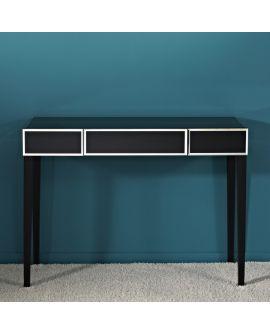 MiroirConsole Couture Table Klein meubel Noir+miroir clair 110 X 45
