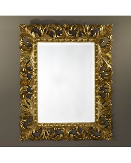 Miroir encadré Sculpture Gold Rectangle Or 86 X 105
