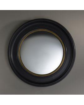 Miroir encadré Convex L Ronde Noir + or 80,5 X 80,5