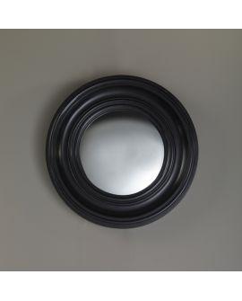 Miroir encadré Convex S Ronde Noir 45 X 45