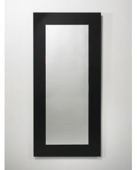 Miroir encadré Shiny Black Rectangle Noir 84 X 166