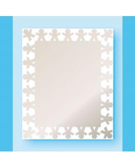 Miroir encadré Chap Rectangle Blanc 52 X 63