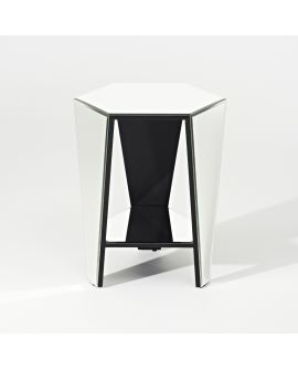 Miroir Tables gigogne Smart Mirror Klein meubel Noir+miroir clair 53 X 65