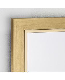 Miroir Salle de bain Bremen Gold Hall Rectangle Or 52 X 143