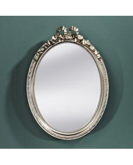 Miroir encadré Cosy Silver Ovaal Couleur argent 37 X 52